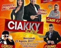A Torre Rinalda il noto varietà del Ciakky Show per festeggiare Santa Cesarea