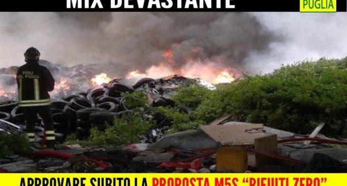 """Incendi e rifiuti, Trevisi (M5S): """"Approvare la proposta """"Rifiuti zero"""" per contrastare le discariche abusive"""""""