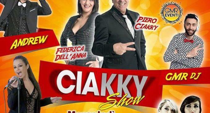 Il Ciakky Show a Torre Lapillo il 9 agosto: sul palco anche Il Peccato di Eva e Scemifreddi