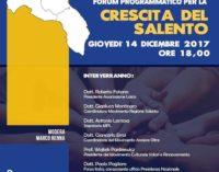 """Giovedì 14 dicembre il Grand Hotel Tiziano a Lecce ospita il Forum Programmatico """"La crescita del Salento"""""""