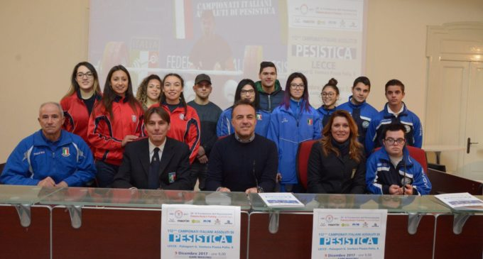 Campionati italiani assoluti di pesistica olimpica: ieri al presentazione all'Open Space