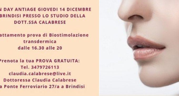 Open Day Antiage il 14 dicembre presso lo studio della dottoressa Claudia Calabrese: contrasta l'invecchiamento cutaneo con la biostimolazione transdermica