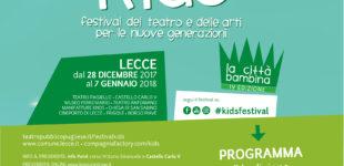 Festival internazionale del teatro e delle arti per le nuove generazioni a Lecce: torna la 4° edizione di Kids