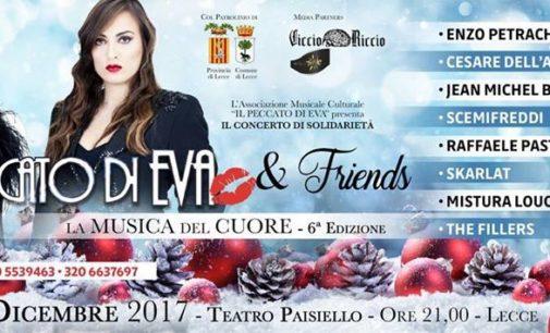 """L'atmosfera del Natale secondo Il Peccato di Eva & Friends. Al Paisiello il concerto intitolato la """"La Musica del Cuore"""""""