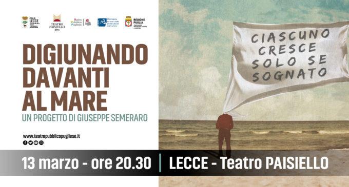Al Teatro Paisiello Giuseppe Semeraro per La scena dei ragazzi in serale