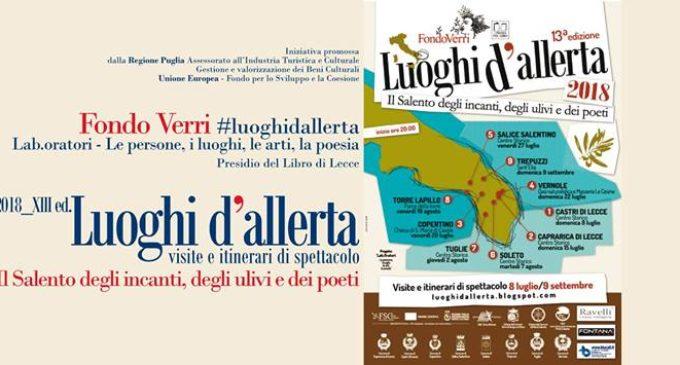 """""""Luoghi d'Allerta"""", la rassegna itinerante del Fondo Verri fa tappa a Roca Nuova"""