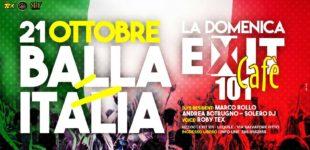 La Domenica Exit 101 Cafè propone il Balla Italia con Marco Rollo, Solero dj e Andrea Botrugno