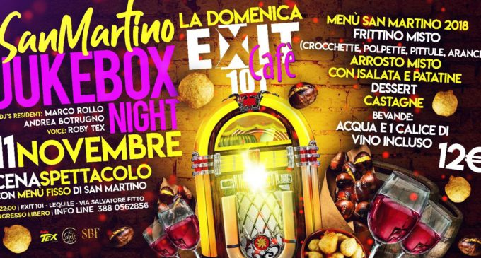 """Jukebox Night"" all'Exit 101 Cafè per la festa di San Martino"