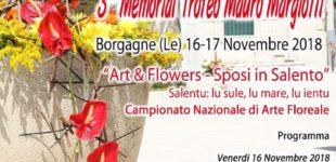 Art & Flowers, a Borgagne un weekend tutto floreale con il campionato nazionale dedicato al matrimonio salentino